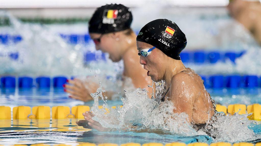 La nadadora española Jessica Vall, plata en los 200 metros braza en el Campeonato Europeo de Glasgow
