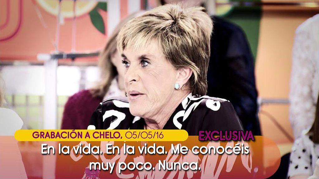 """¡Inédito! las confesiones de Chelo Gª Cortés sobre la familia Pantoja: """"Dulce estaba tan obsesionada con su protección a la niña que eso le motivó para llamar al 'Deluxe"""""""