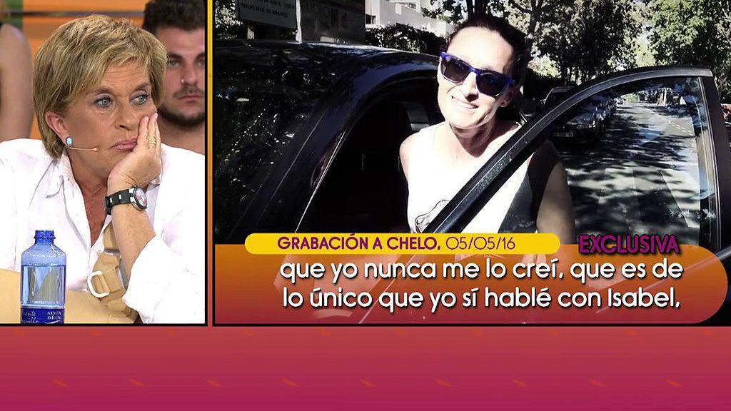 """Chelo Gª Cortés, sin saber que le grababan: """"Creo que alguien le preparó una trampa a Dulce"""""""