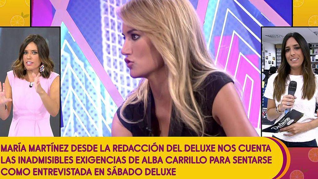 Las cláusulas de Alba Carrillo para sentarse en el 'Deluxe', lo nunca visto en casi 500 programas