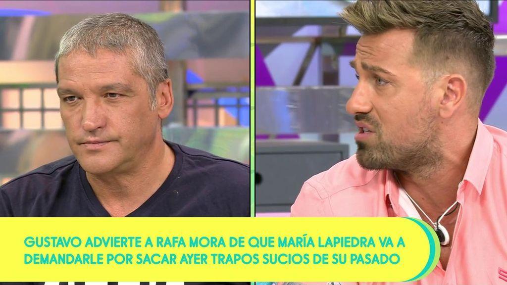 """Gustavo hace las paces con Rafa: """"A mí tampoco me gustan algunas cosas que hace María"""""""