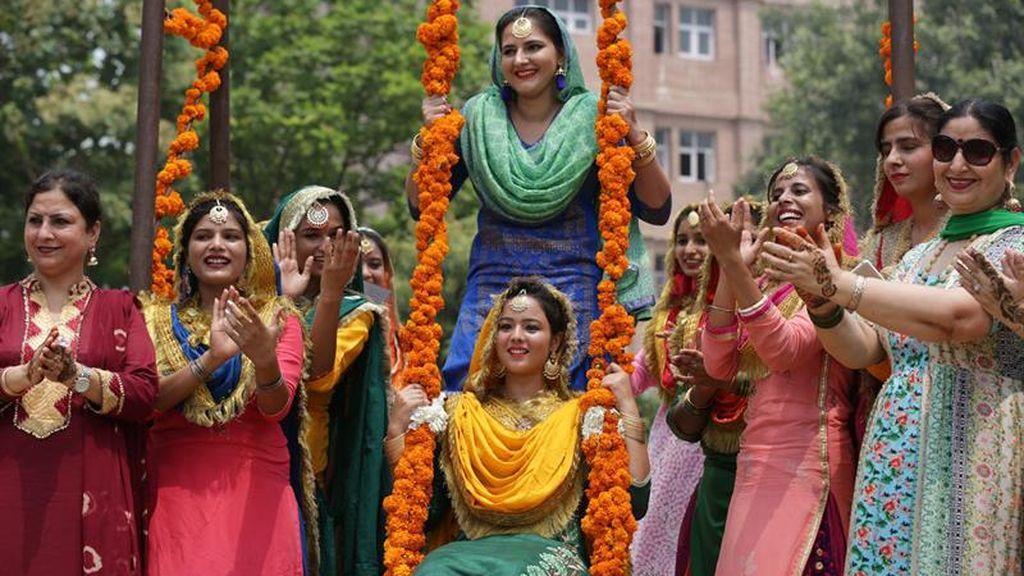 Tradición festiva para las mujeres indias