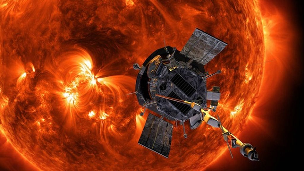 Recreación de la misión Parker Solar Probe.