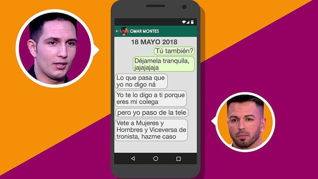 Los mensajes que prueban que Tony Casetas y Omar Montes se veían con Chabelita simultáneamente