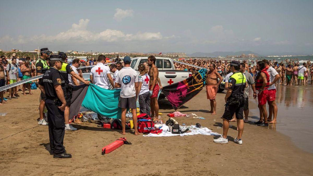 Encuentran muerto y semienterrado a un hombre de 20 años en la valenciana playa de la Malvarrosa