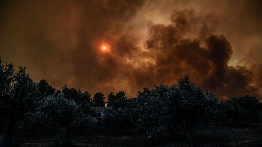 Estado de emergencia en la isla griega de Eubea por un extenso incendio forestal