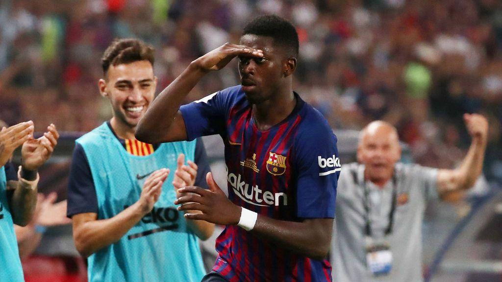 Dembelé y Ter Stegen le dan el primer título del año al Barcelona (1-2)