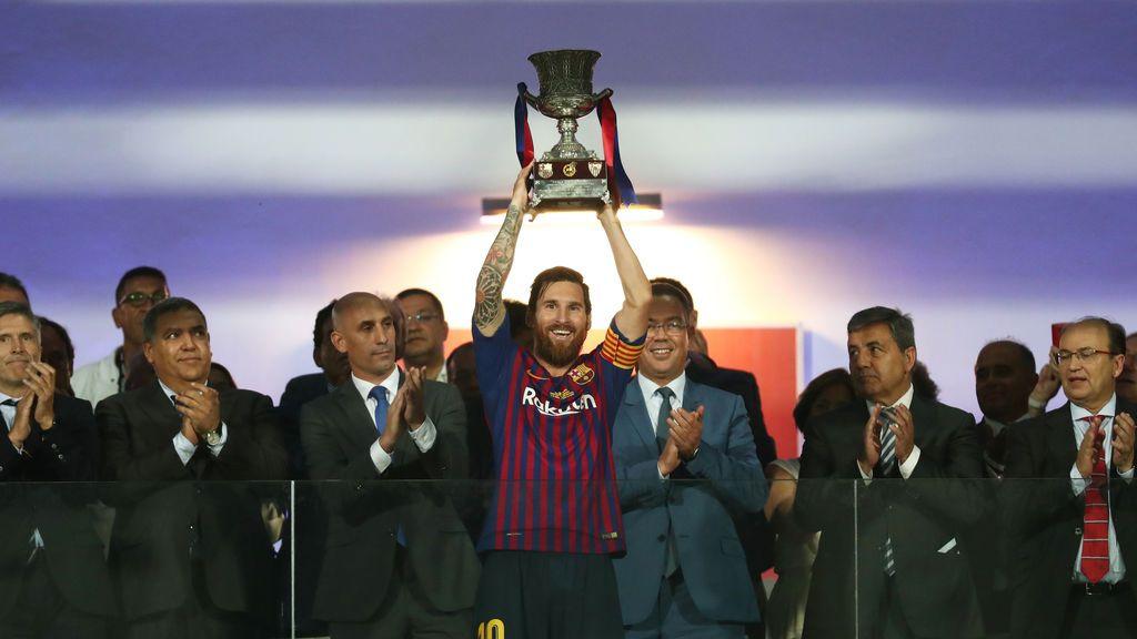 El  Barcelona, campeón de la Supercopa tras vencer al Sevilla en Tánger (1-2)