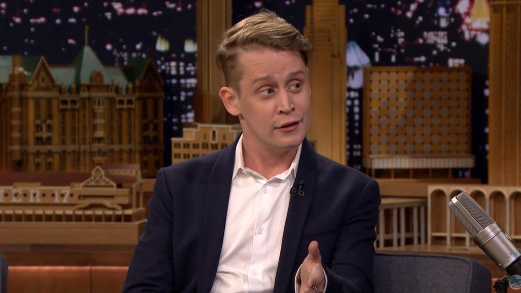 El actor Macaulay Culkin, en el programa 'The tonight show' presentado por Jimmy Fallon el 3 de marzo de 2018.
