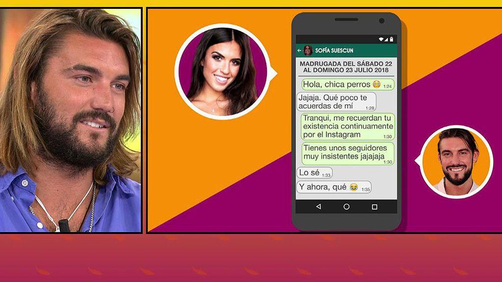 """Logan muestra sus mensajes con Sofía Suescun: """"Eres una incógnita para mí"""""""