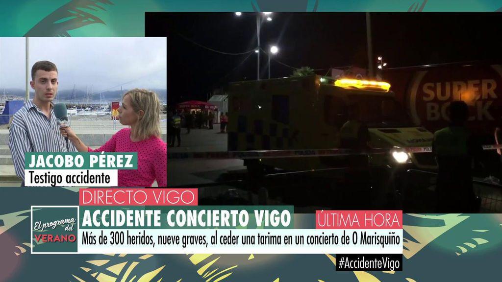 """Jacobo,  testigo del accidente en el concierto de Vigo: """"Ya había quejas de esta zona"""""""