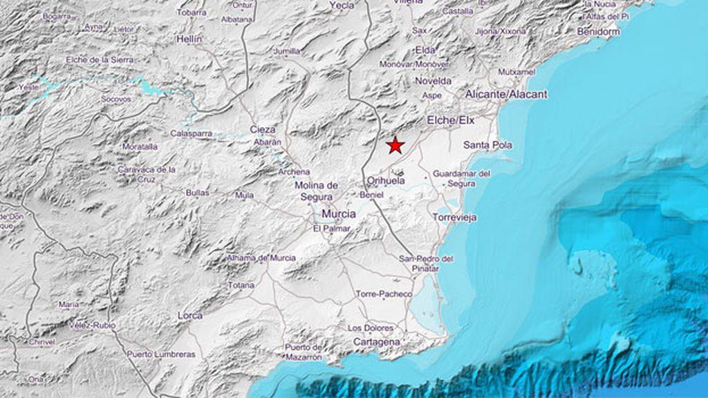Un terremoto de 4,2 con epicentro en Albatera se deja sentir en Alicante y Murcia