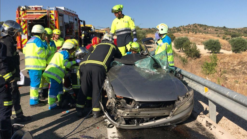 Accidente en carretera de Valdelaguna (Madrid)