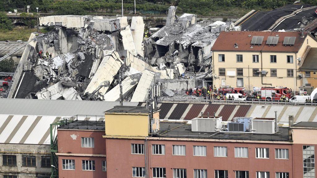 Se derrumba un viaducto en el que circulaba una autopista en Génova