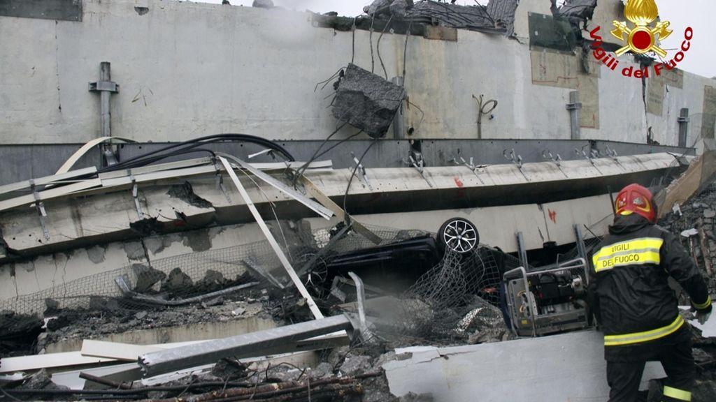 Desplome de un viaducto en Génova