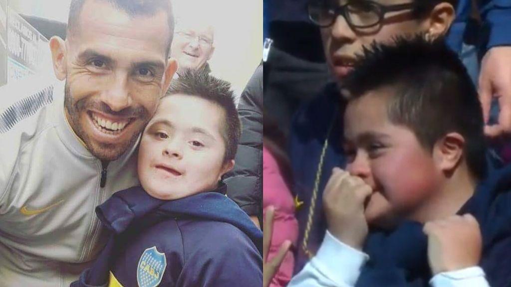tevezEl detalle de Carlos Tévez con un pequeño seguidor de Boca Junior que ha emocionado a Argentina 😍