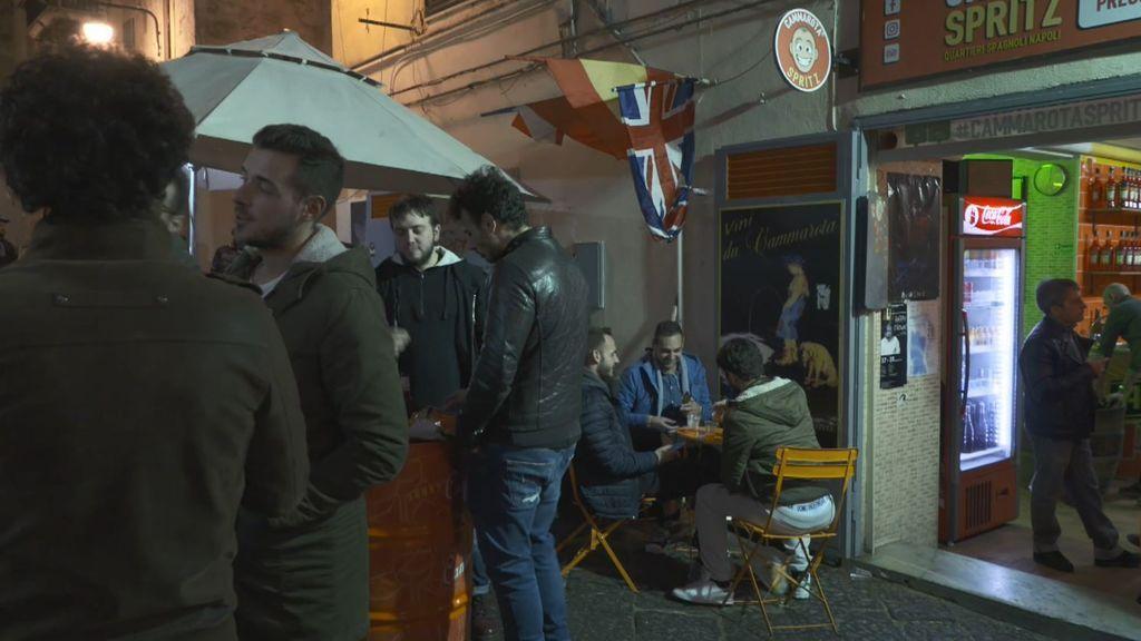 La fiesta en Nápoles: mucha cerveza, pasión en la calle y recuerdos a Maradona