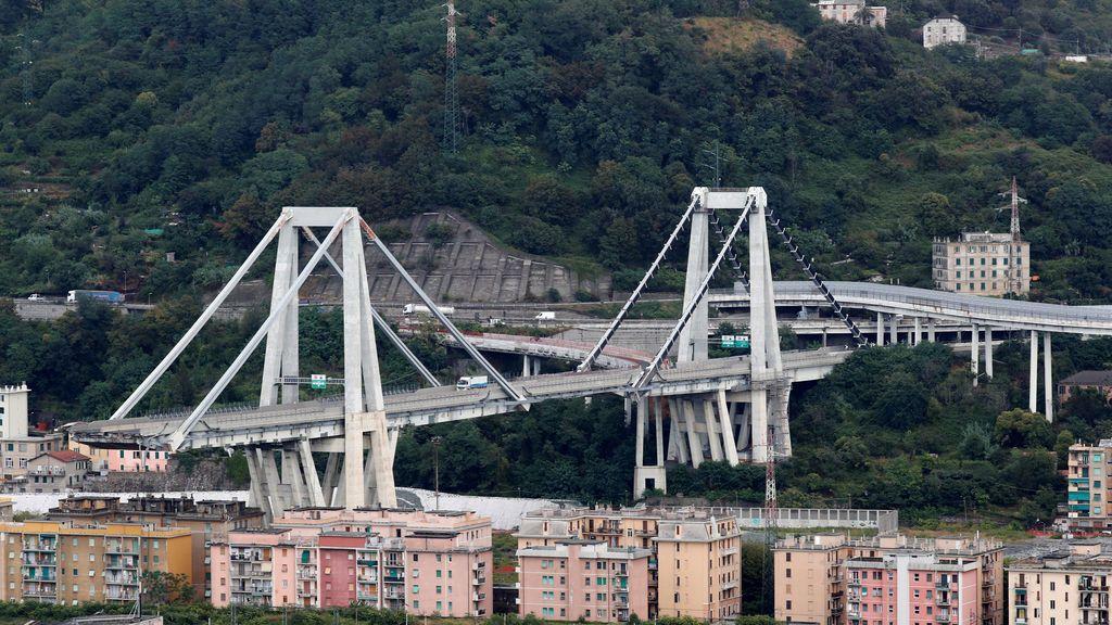 Otra parte del puente de Génova presenta grietas y podría derrumbarse