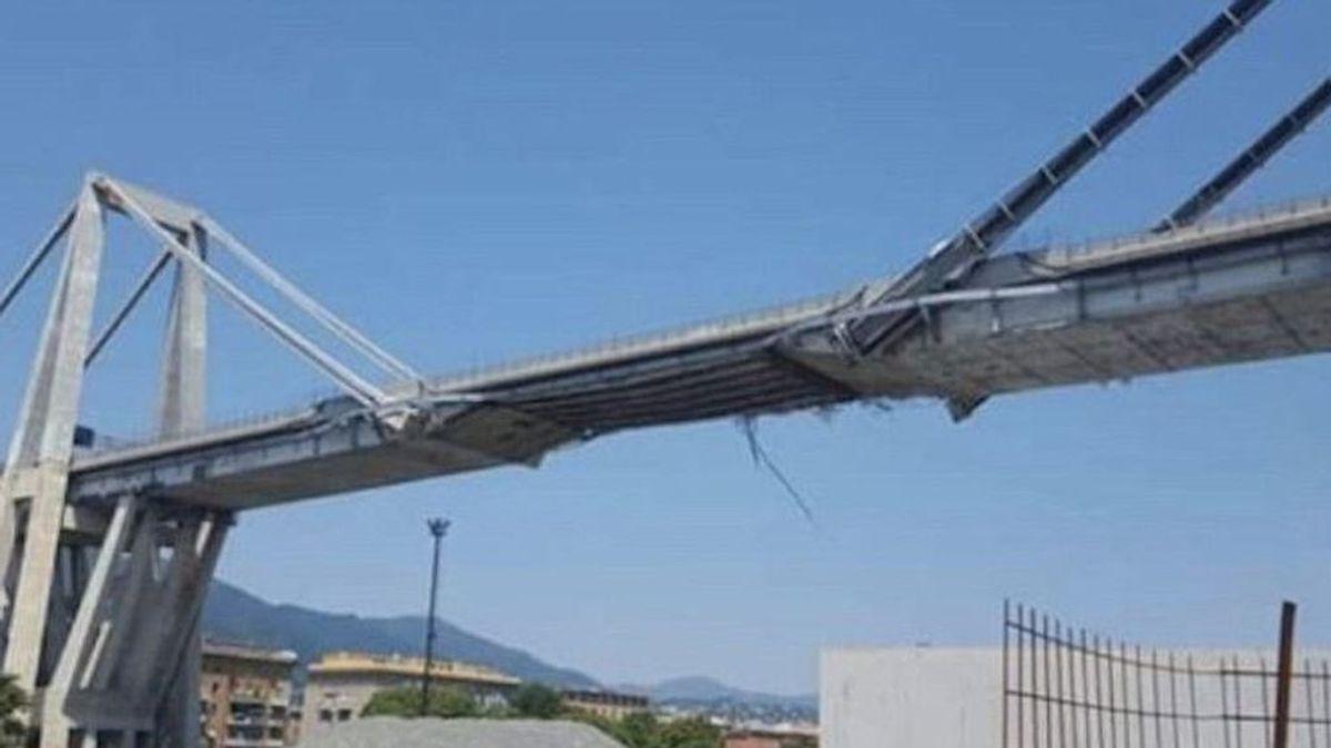 Las imágenes del puente de Génova, semanas antes de caerse