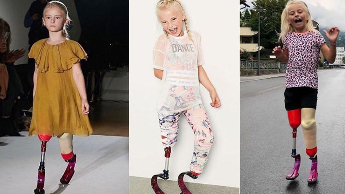 Daisy-May, la modelo sin piernas de solo siete años