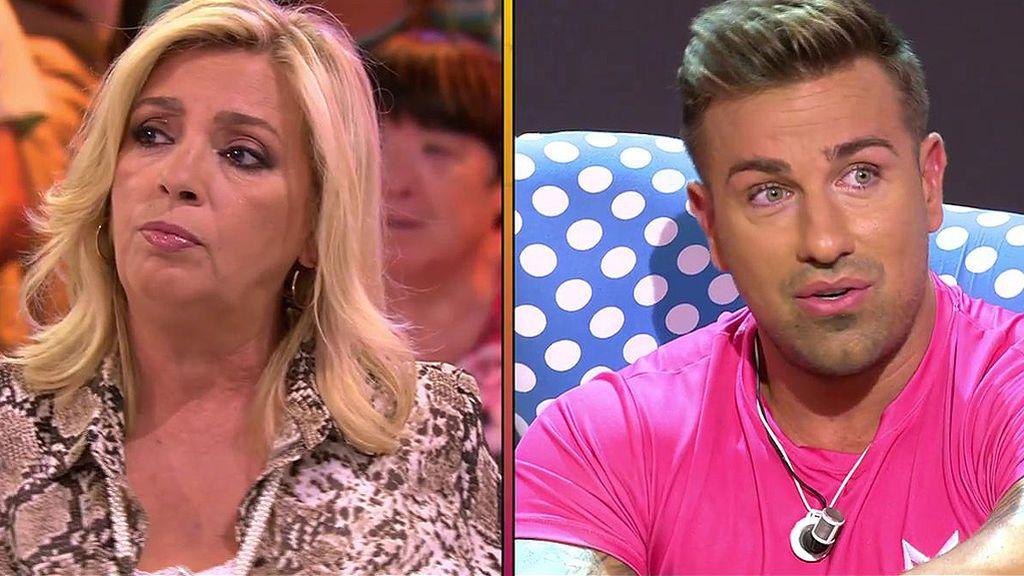 """Carmen Borrego reprocha a Rafa Mora los ataques a Terelu: """"Sacó la cara por ti y se lo has pagado guarramente"""""""
