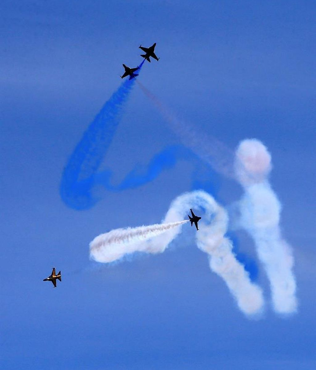 Exhibición aérea en Corea del Sur