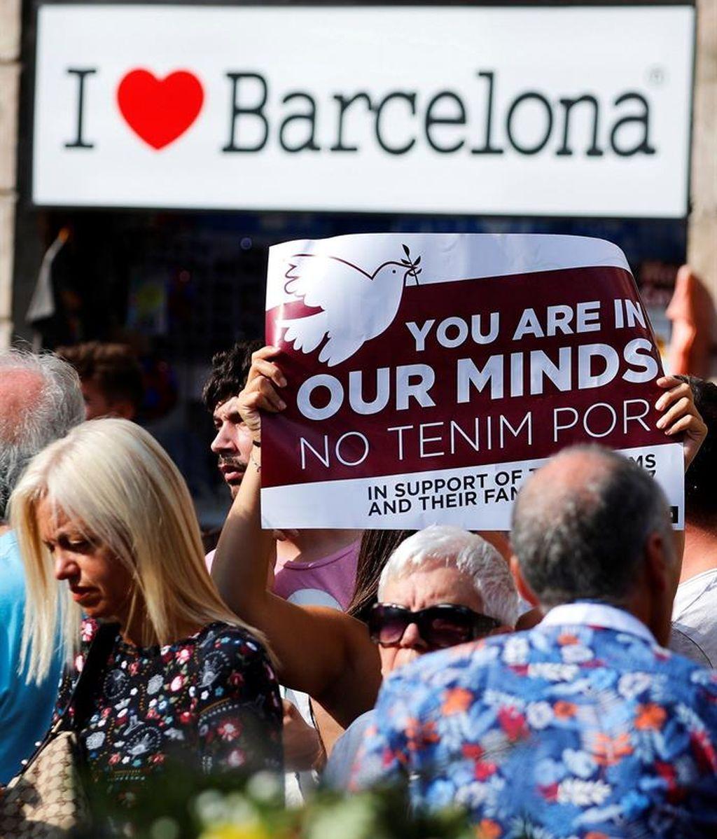 Barcelona se vuelca en apoyar a las víctimas