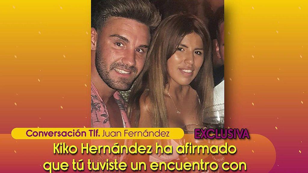 Juan Fernández niega el baño en la piscina y la noche de hotel con Isa Pantoja