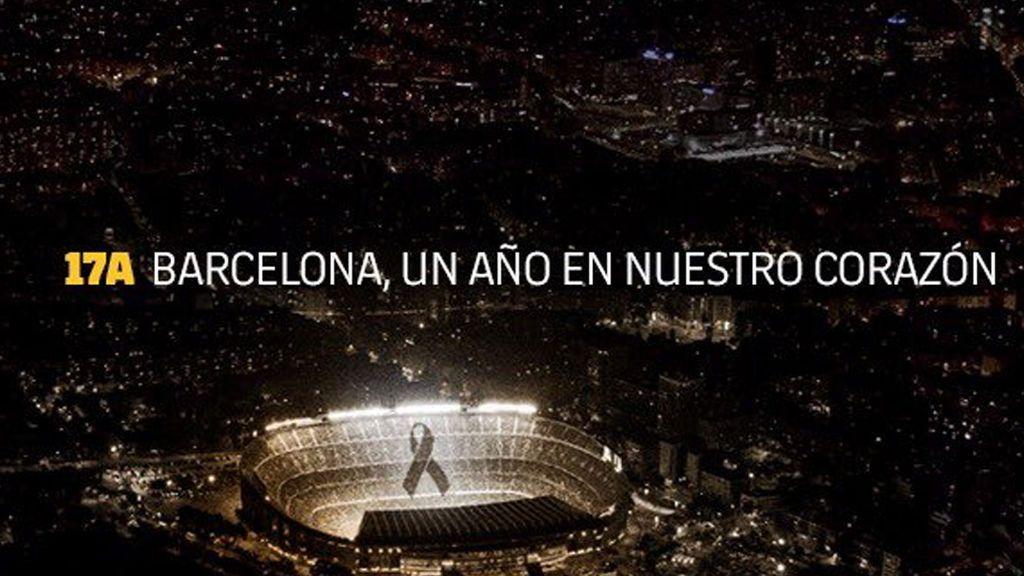 El FC Barcelona con el presidente Bartomeu a la cabeza se unen al homenaje homenaje a las víctimas en el aniversario del 17-A