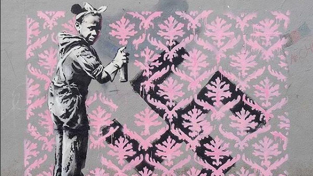 El artista Banksy de que tiene una exposición a través de un mensaje en las redes