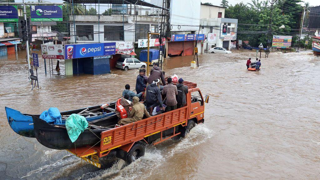 Las inundaciones de Kerala se cobran ya la vida de 187 personas