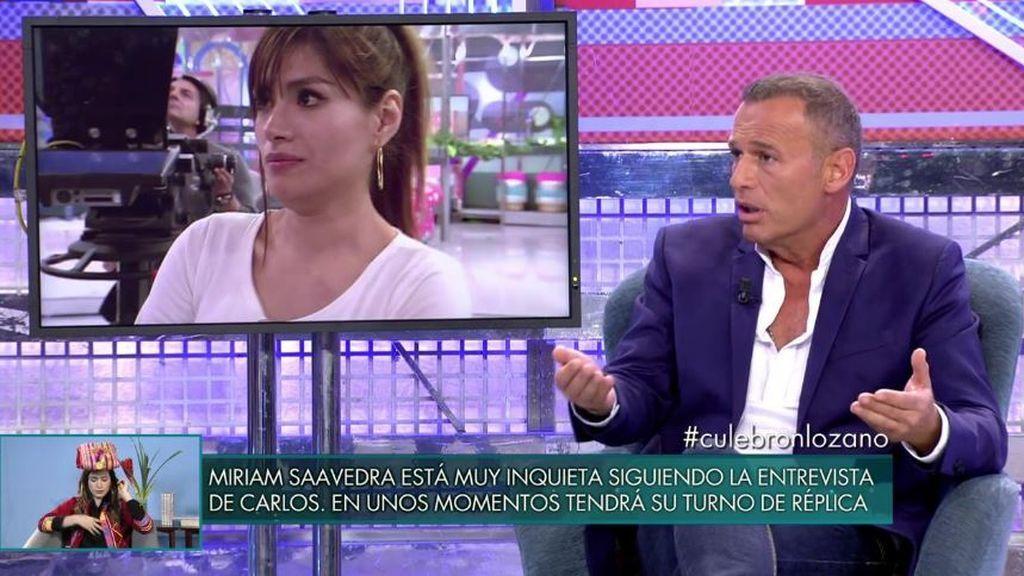 """Lozano, cuenta todos los secretos: """"He acompañado a Miriam al psicólogo"""""""