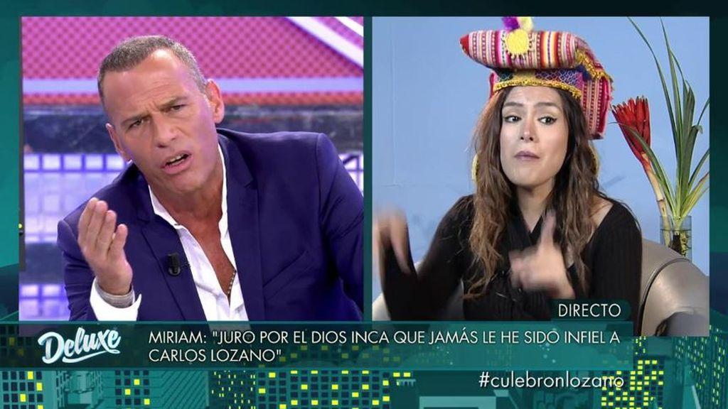 Miriam Saavedra, Carlos Lozano y todas las infidelidades, a la cara