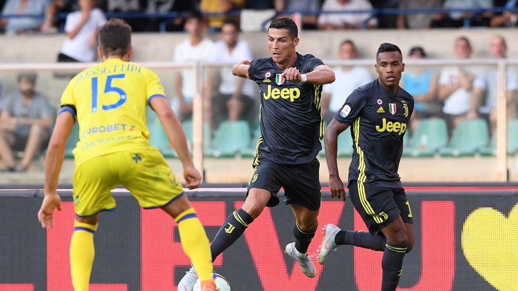 Cristiano debuta sin puntería pero con victoria en la Juventus