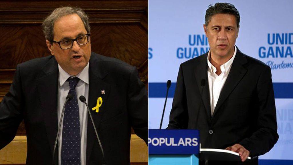 El encontronazo de Albiol y Torra en el homenaje a las víctimas del atentado de Cambrils