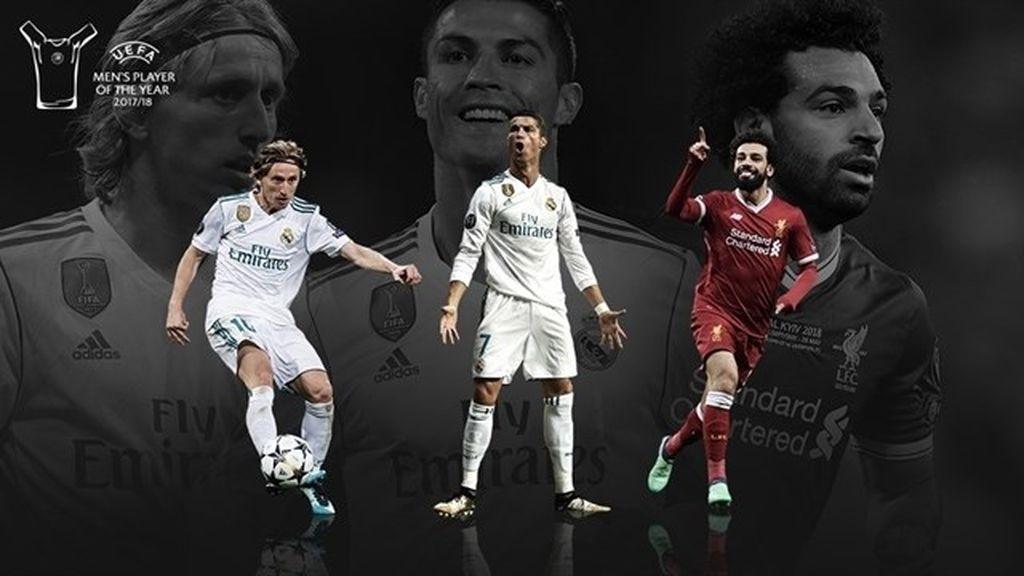 Cristiano, Modric y Salah, candidatos a Jugador del Año de la UEFA