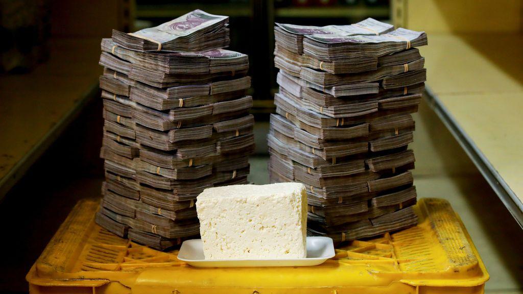 Lo que cuesta un trozo de queso en  Venezuela