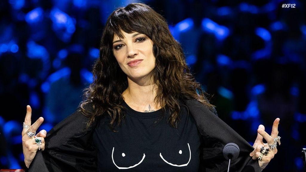 Asia Argento, durante la grabación del segundo día de la fase 'Bootcamp' en el programa 'Factor X Italia'.