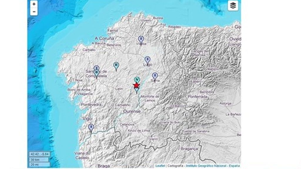 Un terremoto de 4,1 sacude Lugo sin dejar daños