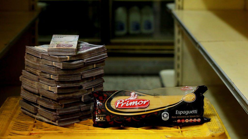 Lo que cuesta un paquete de spaguetti en Venezuela