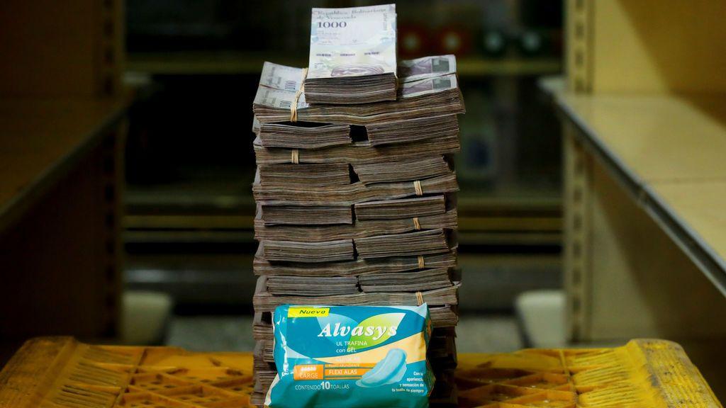 Lo que cuesta un paquete de tampax en Venezuela