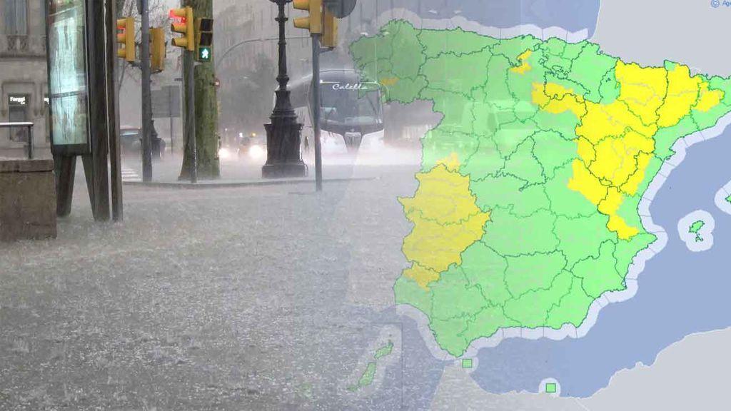 Las tormentas regresan con fuerza: 16 provincias, en riesgo por rayos y truenos