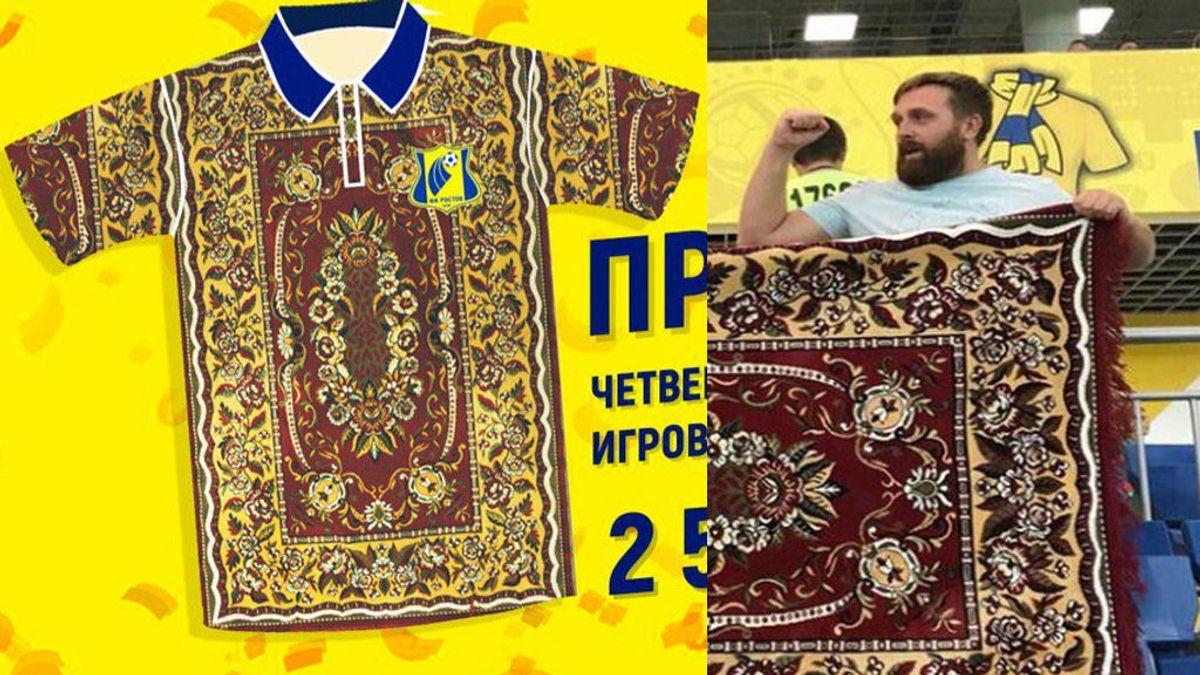 El Rostov se inspira en la alfombra de unos aficionados para su cuarta equipación... ¡Y triunfa!