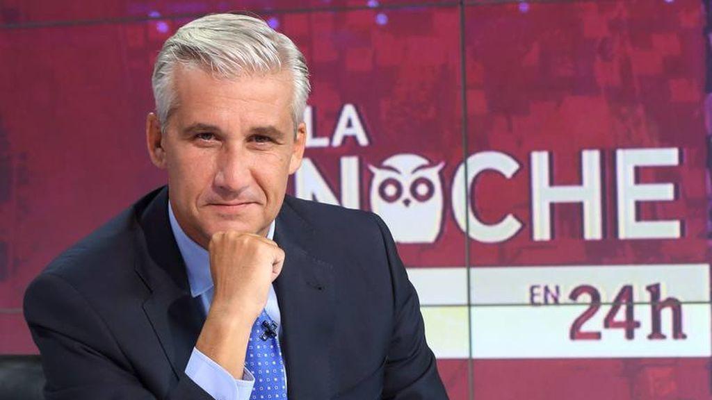 Víctor Arribas, último presentador del programa 'La noche en 24 horas'.