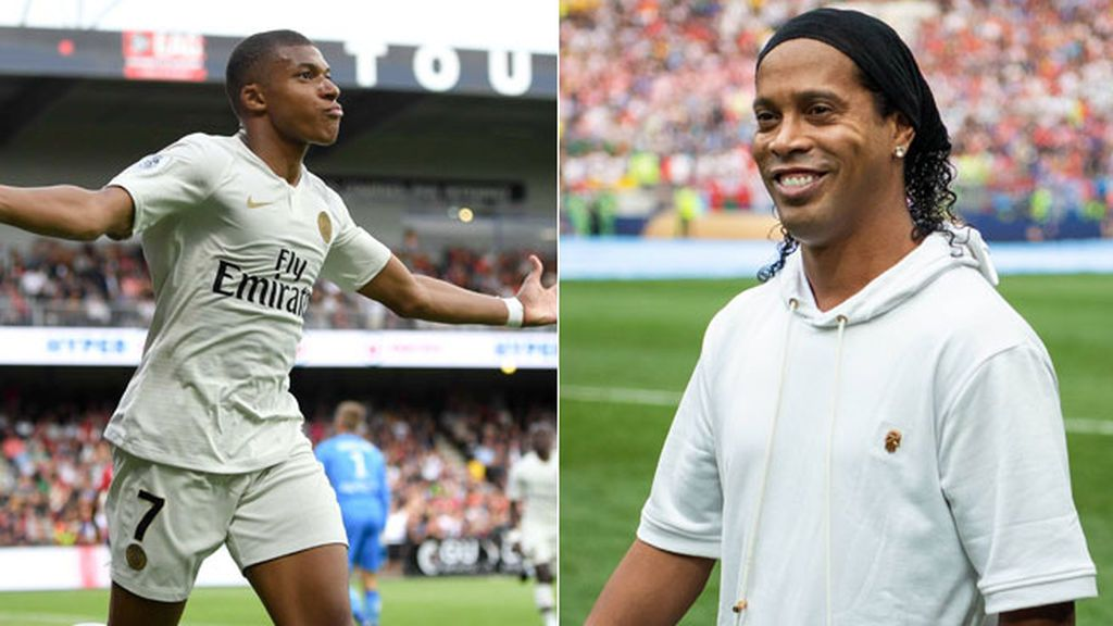 "El ""déjà vu"" de Ronaldinho: Mbappé marca el mismo gol que metió el brasileño con el PSG hace quince años"
