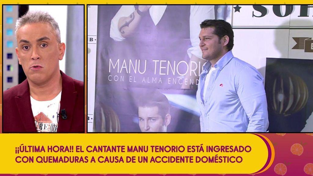 Manu Tenorio, ingresado de urgencia a causa de un accidente doméstico