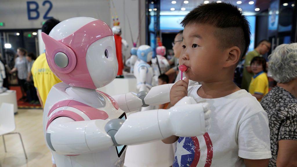 Abrazo de robot