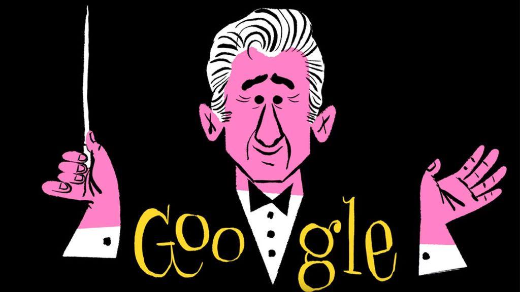Google celebra el centenario del nacimiento de Leonard Bernstein