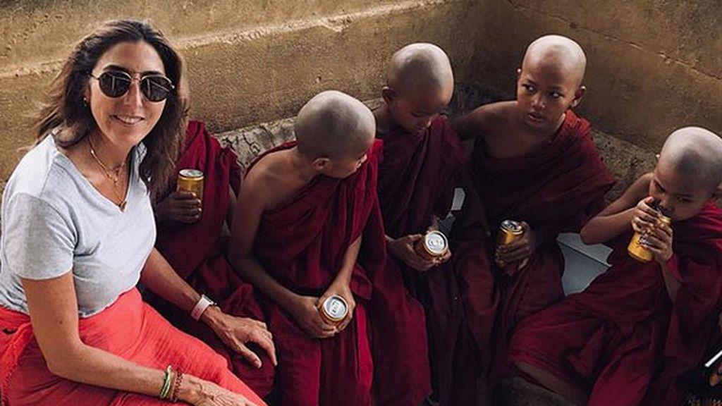 """El viaje a Birmania junto a su familia que ha """"cambiado la vida"""" de Paz Padilla, foto a foto"""