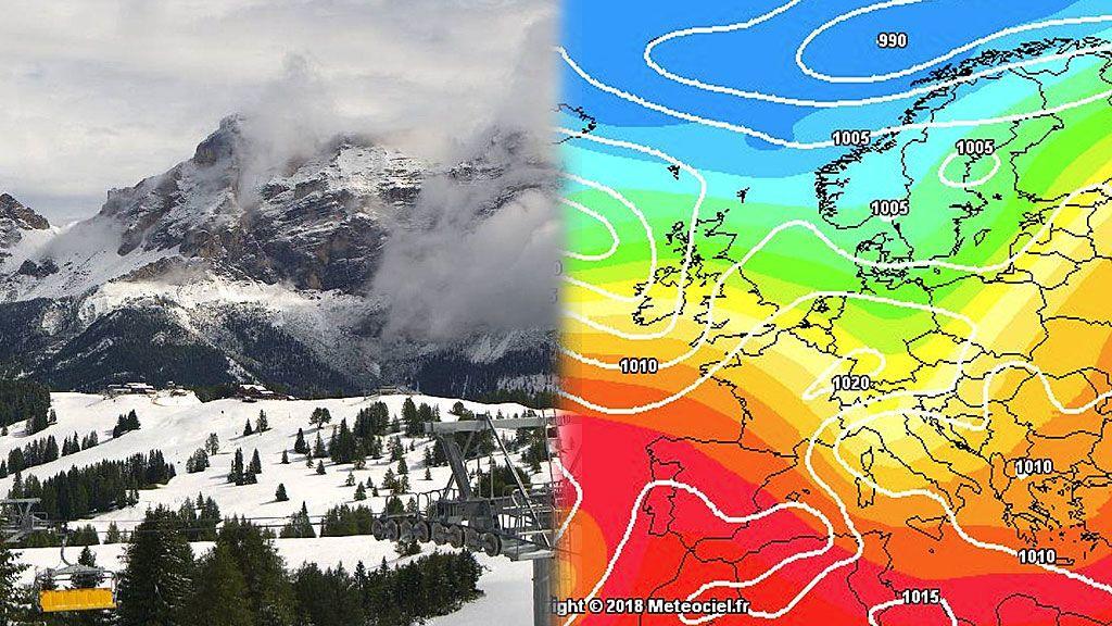 La nieve en agosto es posible: Los Alpes se visten de blanco en pleno verano
